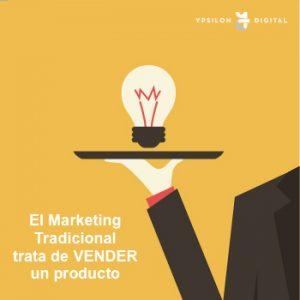 Marketing tradicional icono explicativo